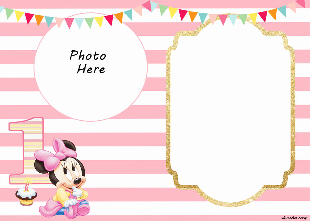 Minnie Mouse Blank Invitation Fresh Free Printable Minnie Mouse Birthday Invitations – Free