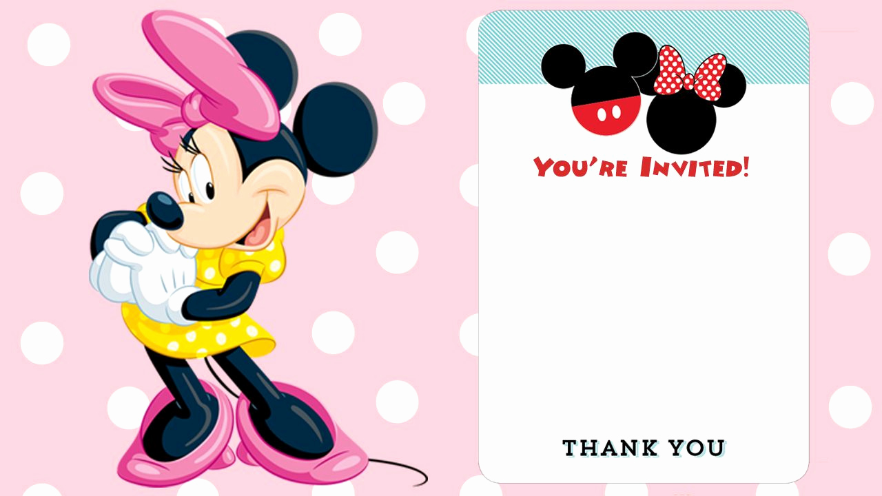 Minnie Mouse Blank Invitation Fresh Free Printable Minnie Mouse Birthday