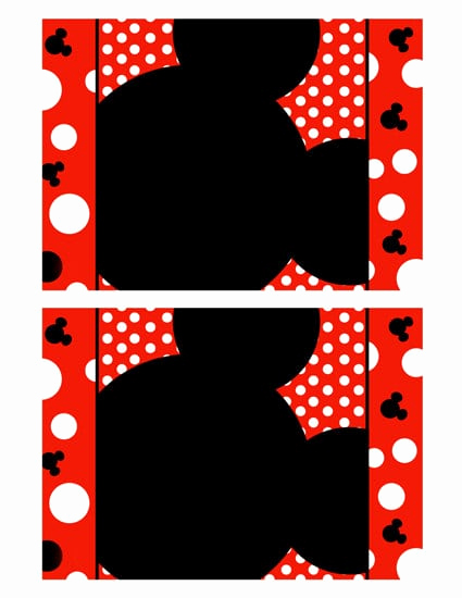 Minnie Mouse Blank Invitation Lovely Mickey Mouse Invitation Blank Template