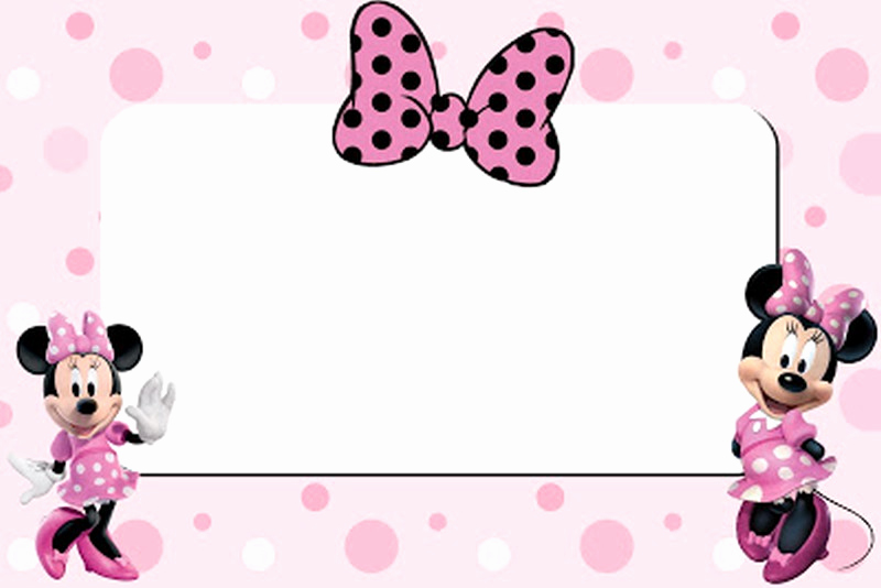 Minnie Mouse Blank Invitation New Free Printable Minnie Mouse 1st Birthday Invitation – Free