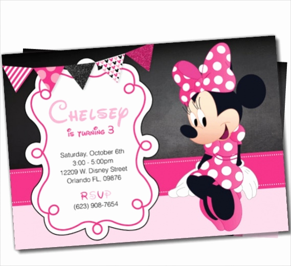 Minnie Mouse Invitation Card Awesome 13 Cute Minnie Mouse Invitation Design Psd Vector Eps