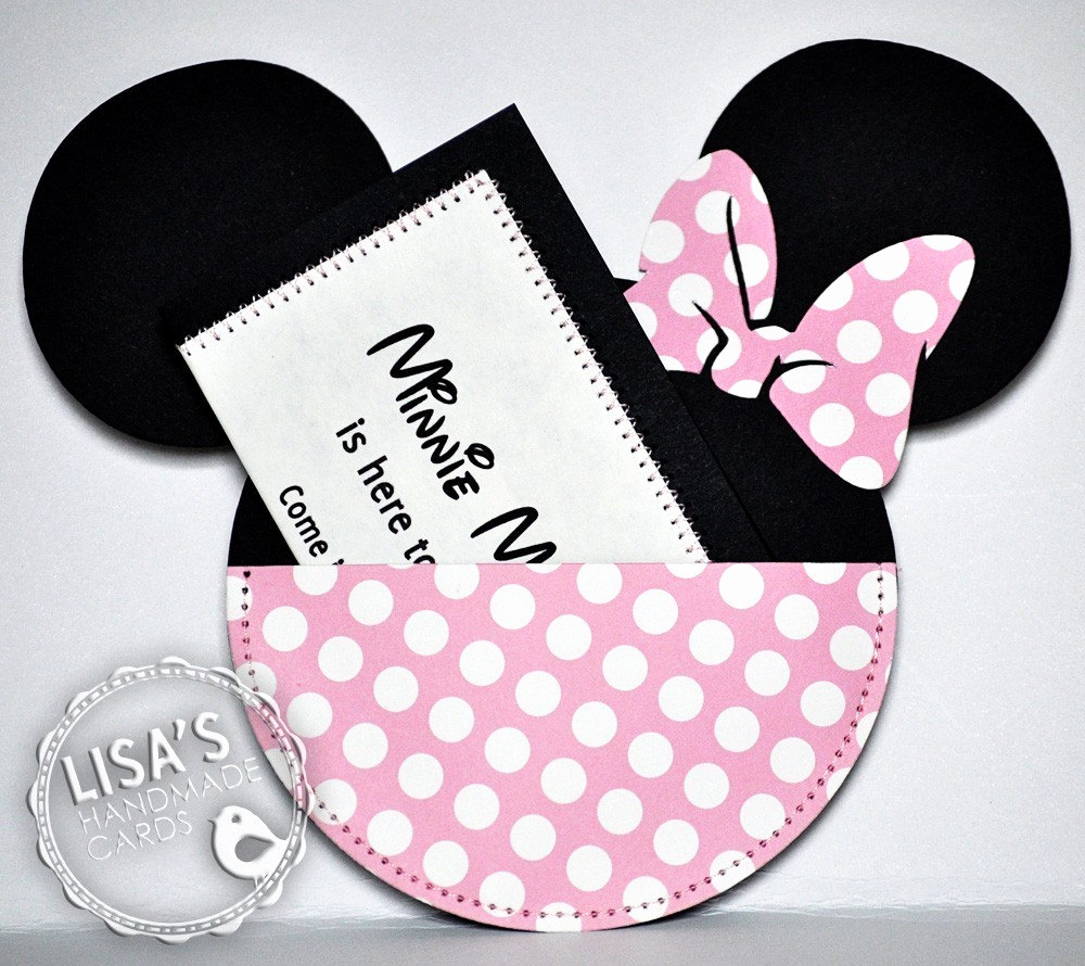 Minnie Mouse Invitation Card Elegant Minnie Mouse Birthday Invitations Pink and Cream Handmade by