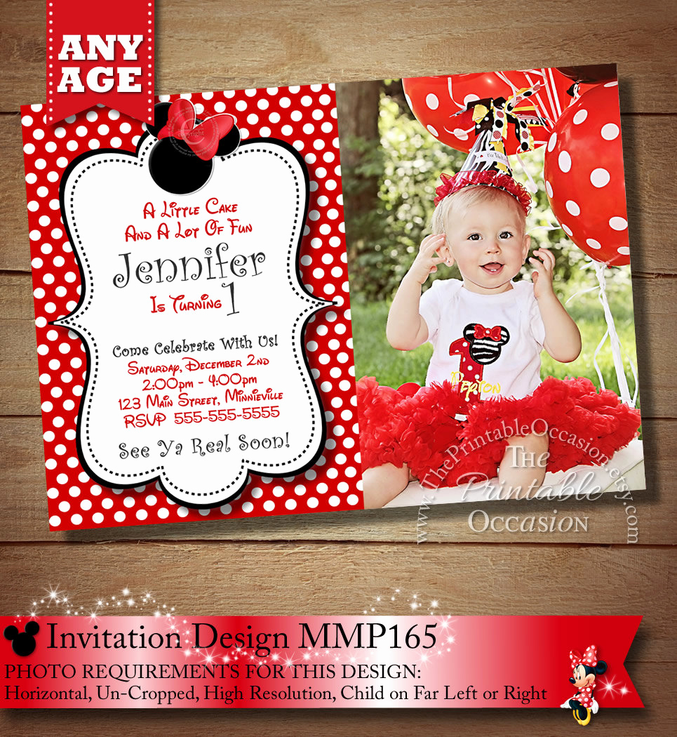 Minnie Mouse Invitation Card Fresh Huge Selection Minnie Mouse Birthday Invitation Minnie Mouse