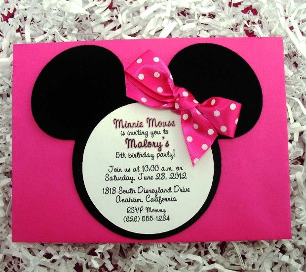 Minnie Mouse Invitation Card New 222 Best Images About Minnie Mouse Invitation Cards On