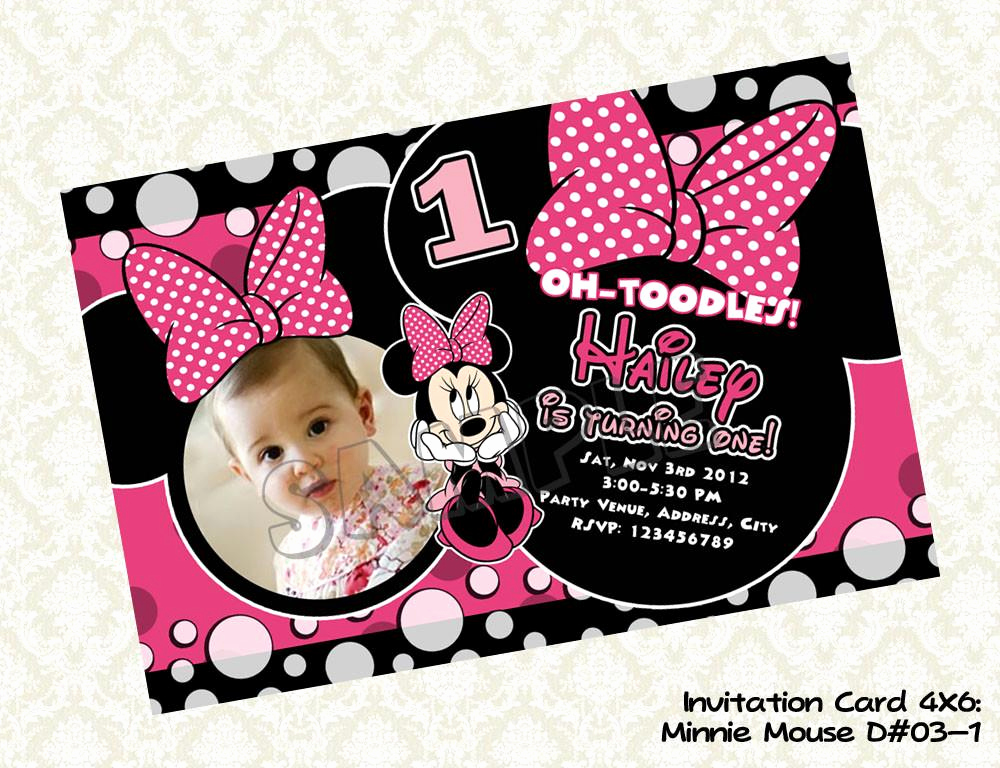 Minnie Mouse Invitation Card Unique Minnie Mouse Invitation Minnie Mouse Birthday Card