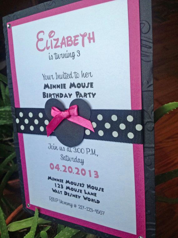 Minnie Mouse Invitation Ideas Beautiful Best 25 Minnie Mouse Birthday Invitations Ideas On Pinterest