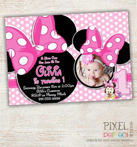 Minnie Mouse Invitation Ideas Elegant Best 25 Minnie Mouse Birthday Invitations Ideas On