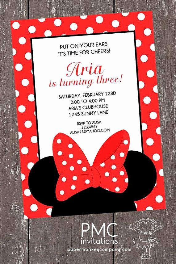 Minnie Mouse Invitation Ideas Elegant Best 25 Minnie Mouse Birthday Invitations Ideas On