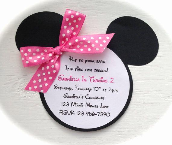 Minnie Mouse Invitation Ideas Fresh Best 25 Minnie Mouse Birthday Invitations Ideas On