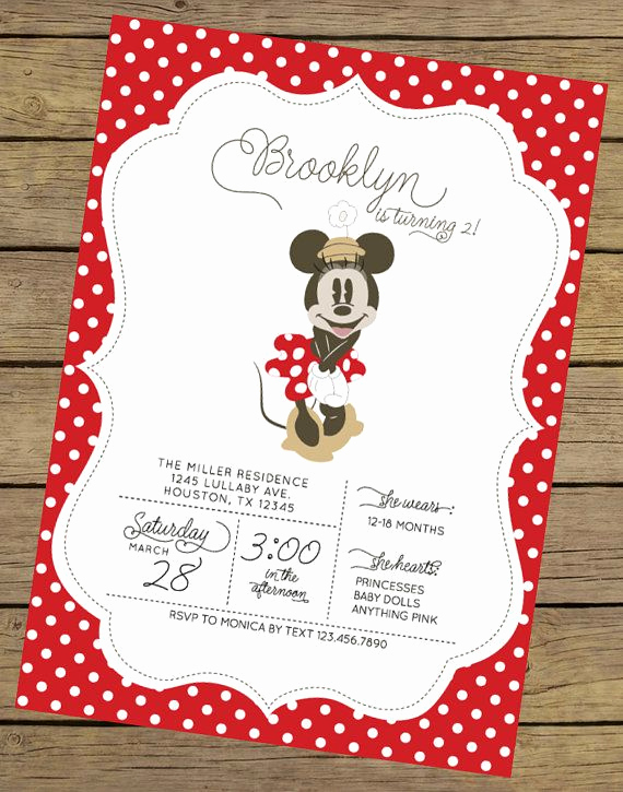 Minnie Mouse Invitation Ideas Inspirational Best 25 Minnie Mouse Birthday Invitations Ideas On