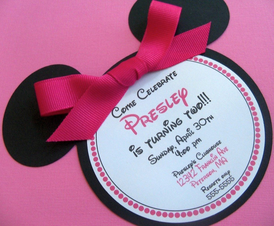 Minnie Mouse Invitation Ideas Inspirational Minnie Mouse Birthday Invitations $30 for 12