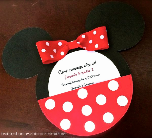 Minnie Mouse Invitation Ideas Inspirational Minnie Mouse Birthday Party Ideas Archives events to