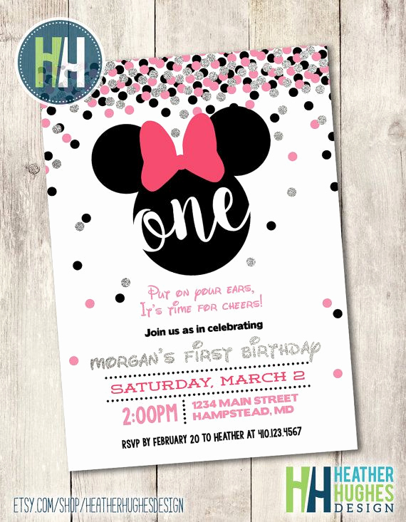 Minnie Mouse Invitation Ideas Luxury Best 25 Minnie Mouse Birthday Invitations Ideas On