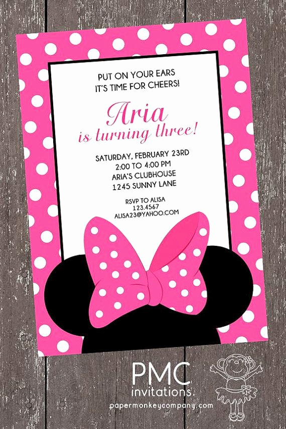 Minnie Mouse Invitation Ideas New Best 25 Minnie Mouse Birthday Invitations Ideas On