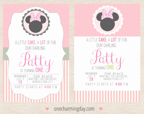 Minnie Mouse Invitation Ideas New Free Minnie Mouse Party Printables E Charming Day