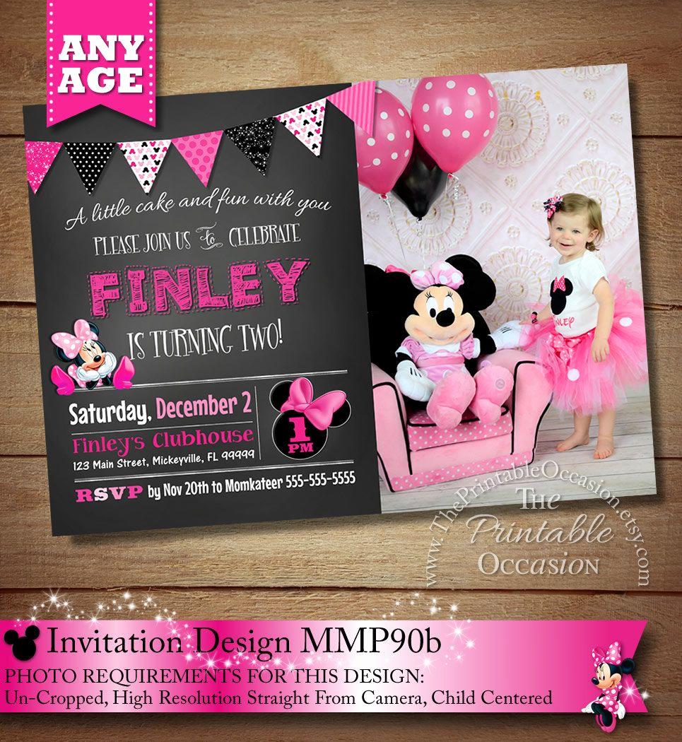 Minnie Mouse Invitation Ideas New Huge Selection Chalkboard Minnie Mouse Invitation Pink