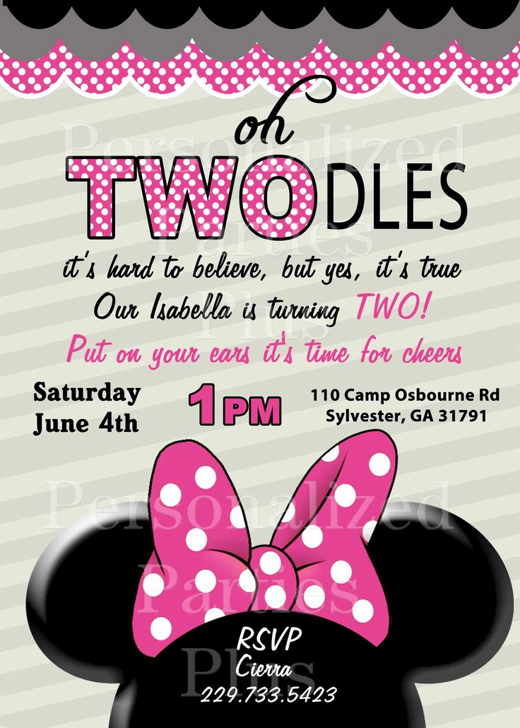 Minnie Mouse Invitation Ideas Unique 17 Best Ideas About Minnie Mouse Birthday Invitations On