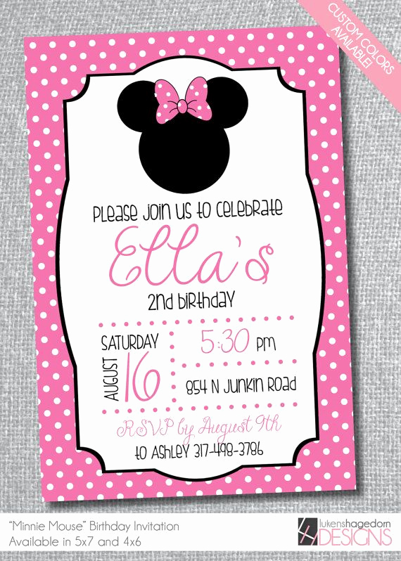 Minnie Mouse Invitation Ideas Unique Best 25 Minnie Mouse Birthday Invitations Ideas On