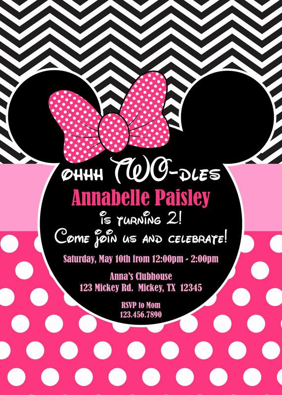 Minnie Mouse Invitation Ideas Unique Best 25 Minnie Mouse Birthday Invitations Ideas On