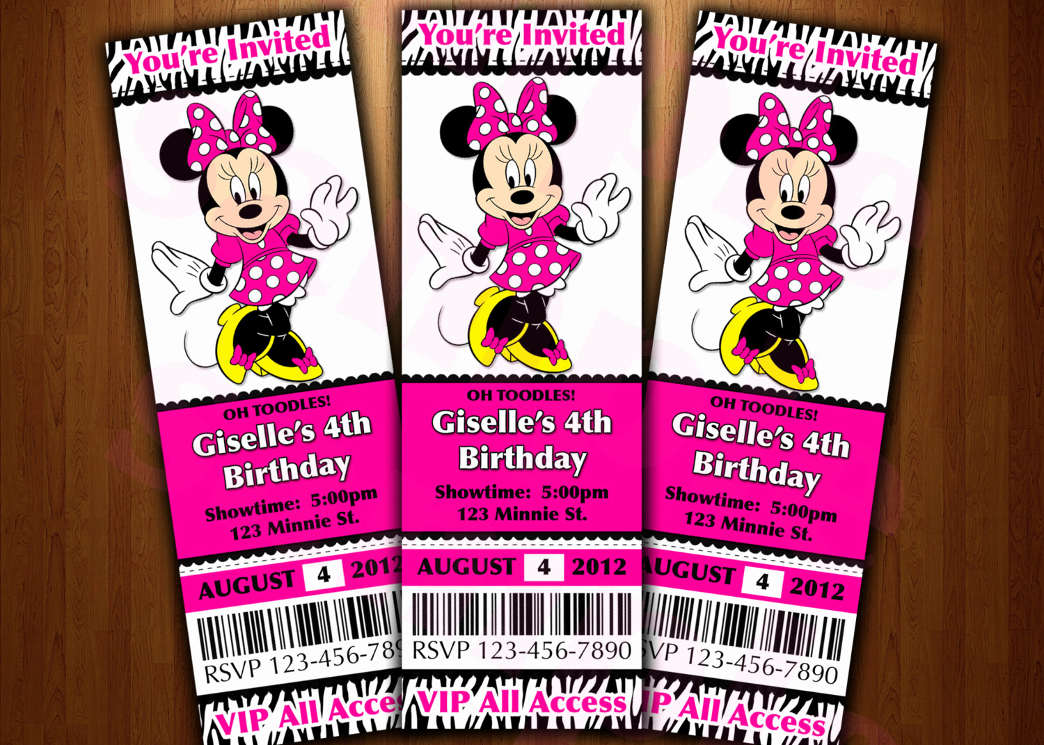 Minnie Mouse Invitation Maker Awesome Minnie Mouse Ticket Invitation Printable Diy Invite Red or