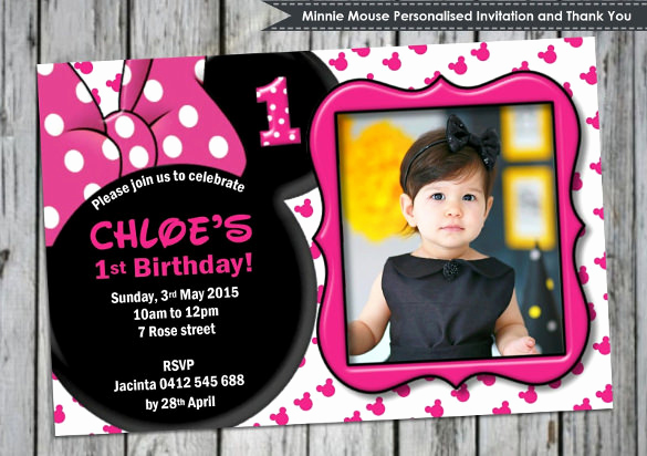 Minnie Mouse Invitation Maker Beautiful 23 Awesome Minnie Mouse Invitation Templates Psd Ai