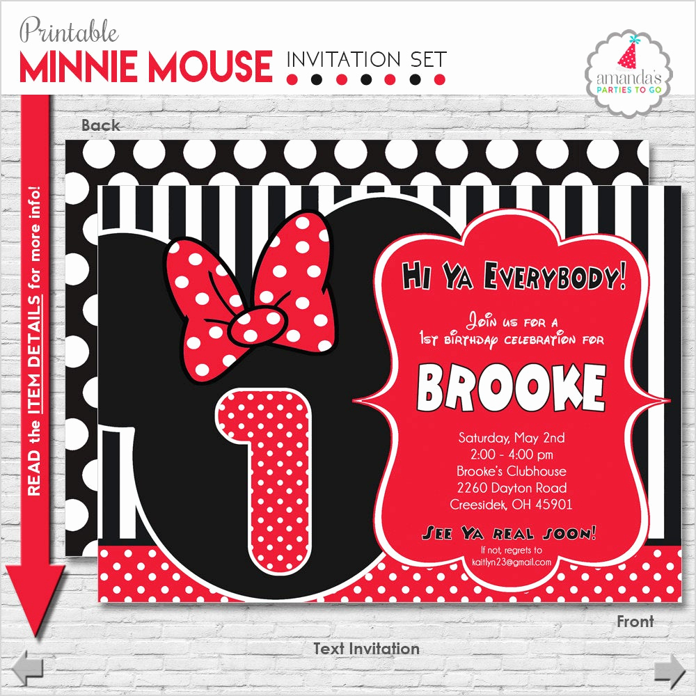 Minnie Mouse Invitation Maker Best Of Minnie Mouse Invitation Minnie Mouse Birthday Invitation
