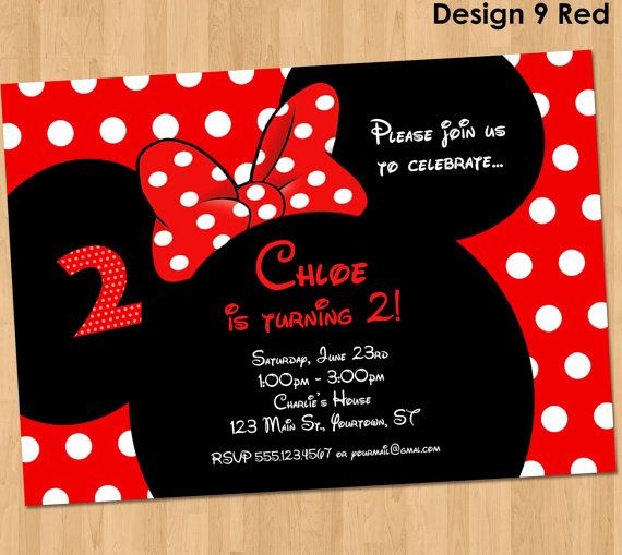 Minnie Mouse Invitation Maker Best Of Minnie Mouse Invitation Printable Birthday Party Custom