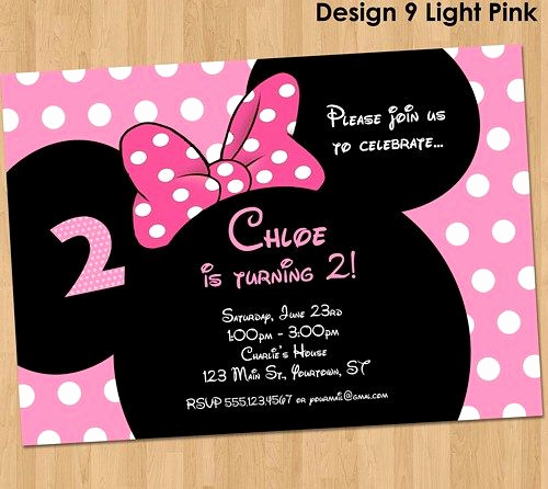 Minnie Mouse Invitation Maker Elegant 25 Best Ideas About Minnie Mouse Birthday Invitations On