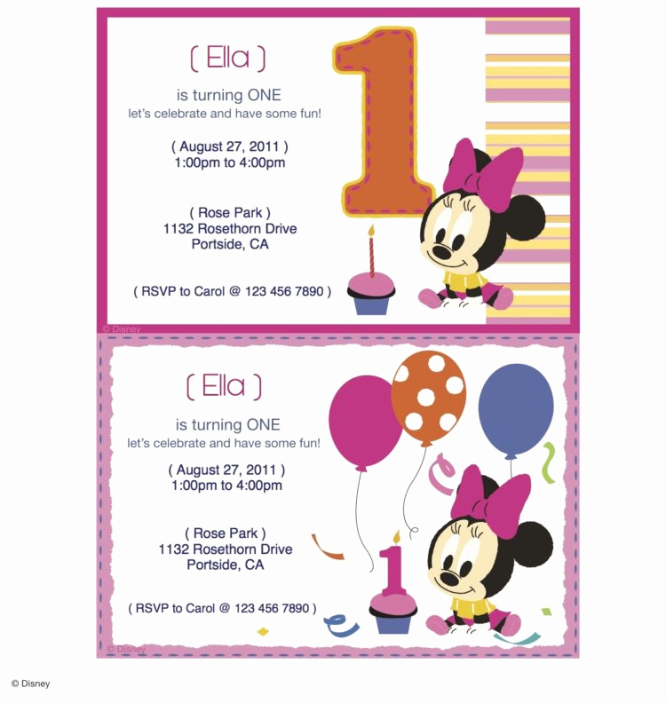 Minnie Mouse Invitation Maker Elegant Minnie Mouse Printable Party Invitations