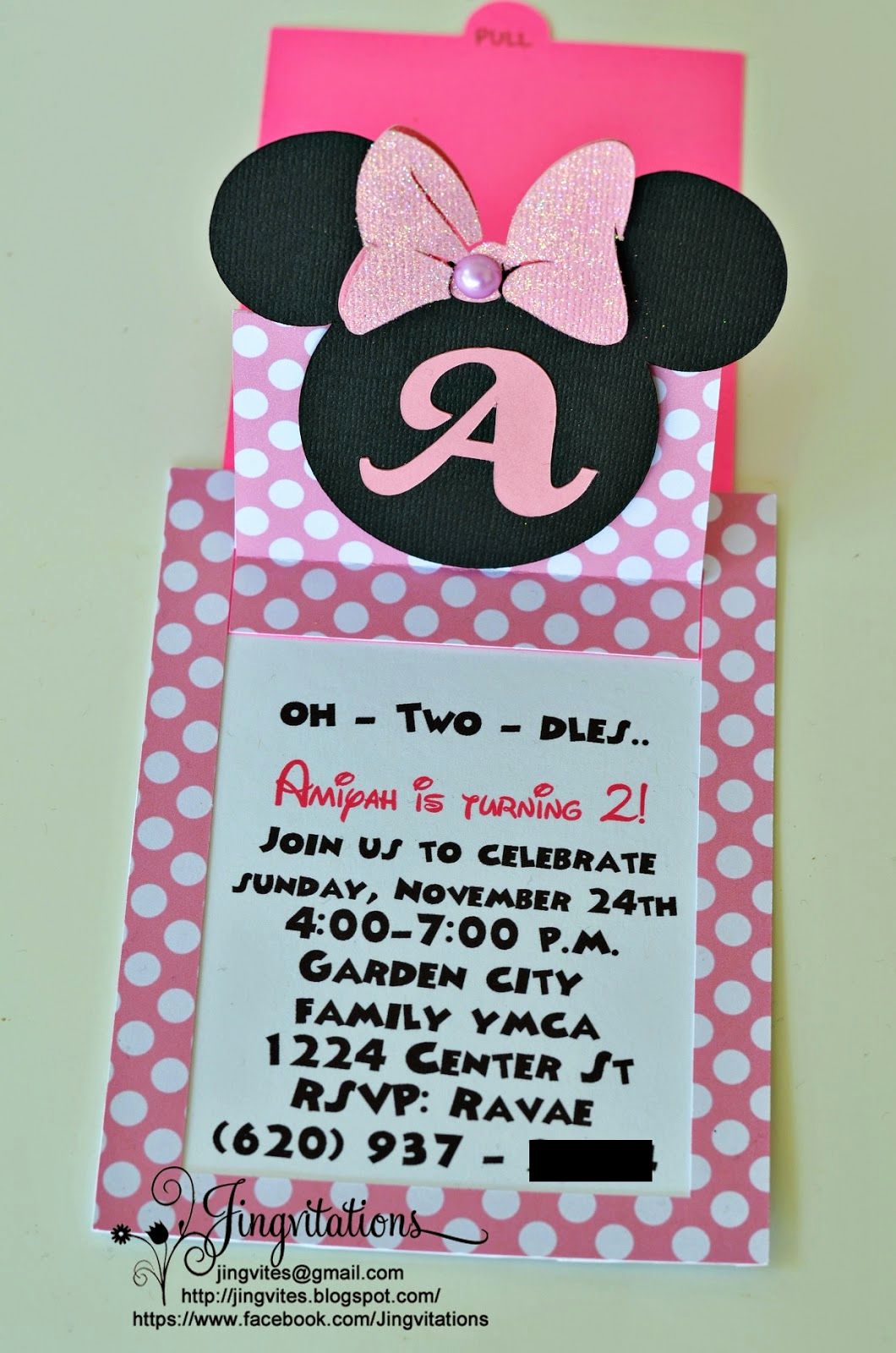 Minnie Mouse Invitation Maker Fresh Jingvitations Cricut Handmade Minnie Mouse Pop Up Invitations