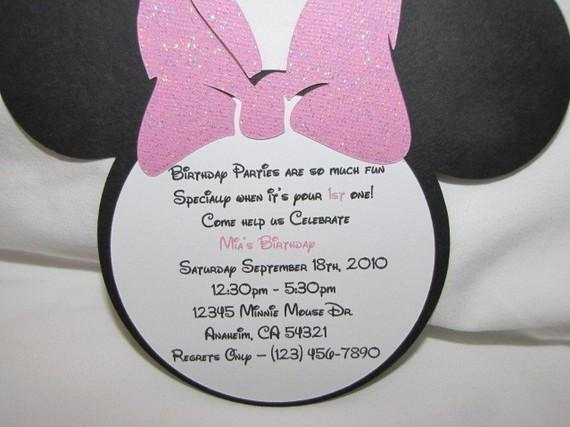 Minnie Mouse Invitation Maker Inspirational Minnie Mouse Invitations for Birthday Set Of by