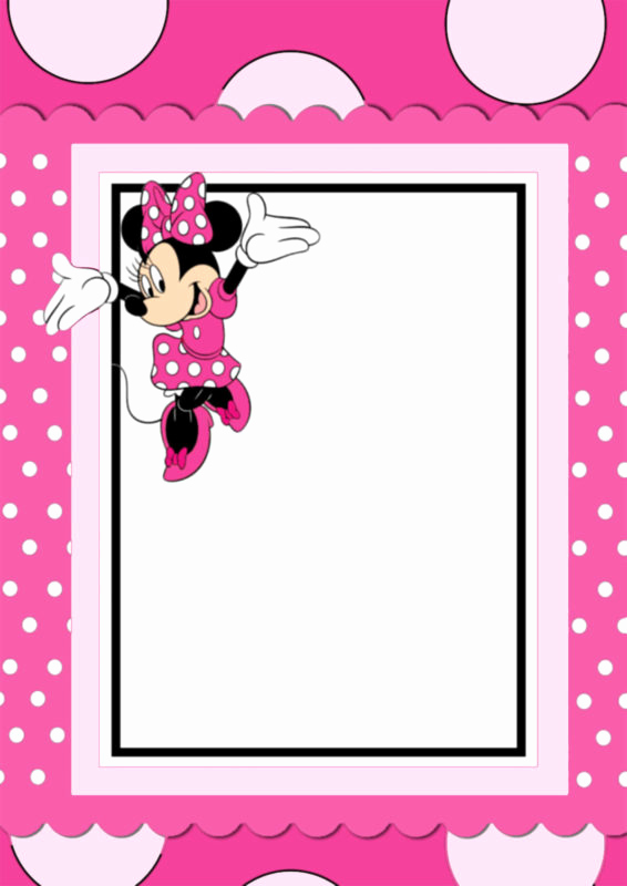Minnie Mouse Invitation Maker Inspirational the Largest Collection Of Free Minnie Mouse Invitation