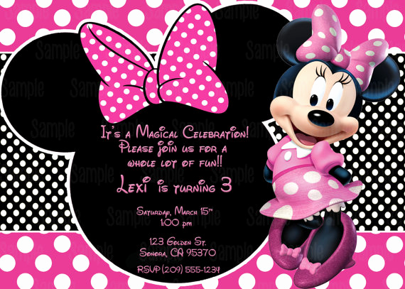 Minnie Mouse Invitation Maker New Printable Minnie Mouse Invitation Plus Free Blank Matching