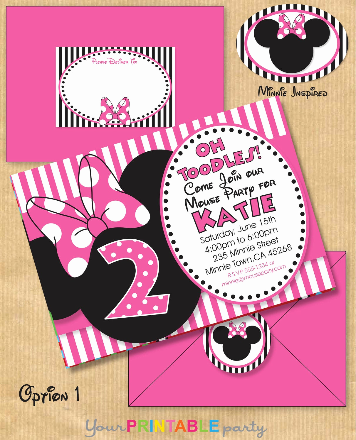 Minnie Mouse Invitation Template Beautiful Minnie Mouse Inspired Birthday Party by Yourprintableparty