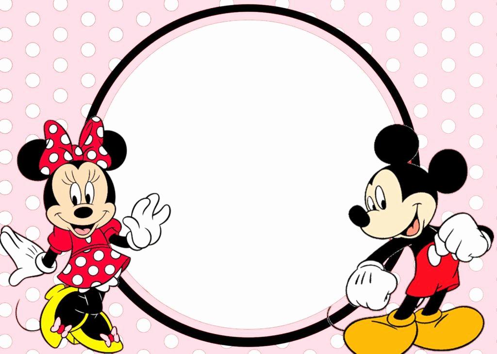 Minnie Mouse Invitation Template Free Elegant Minnie and Mickey Invitation Template
