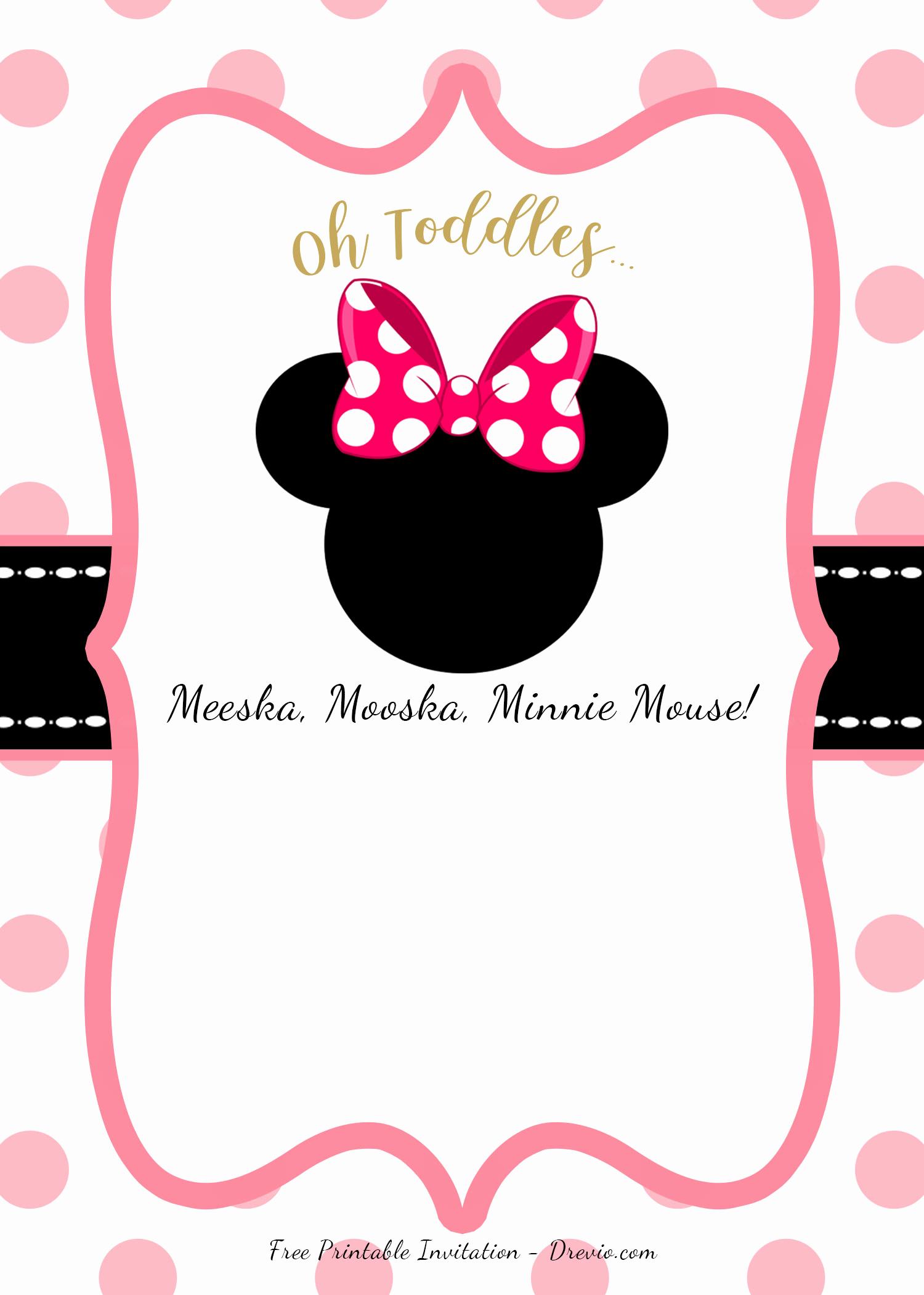 Minnie Mouse Invitation Template Free Luxury Free Minnie Mouse Head Invitation Templates – Free