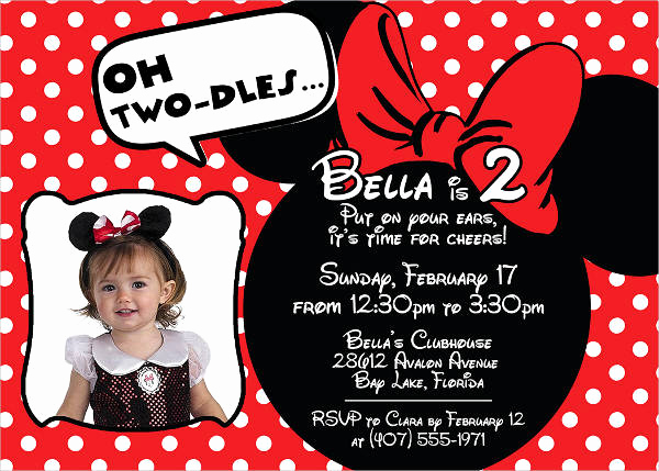 Minnie Mouse Invitation Template Free New 20 Minnie Mouse Birthday Invitation Templates Psd Ai