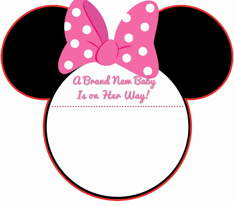 Minnie Mouse Invitation Template Free Unique Free Printable Baby Minnie Mouse Baby Shower Invitations
