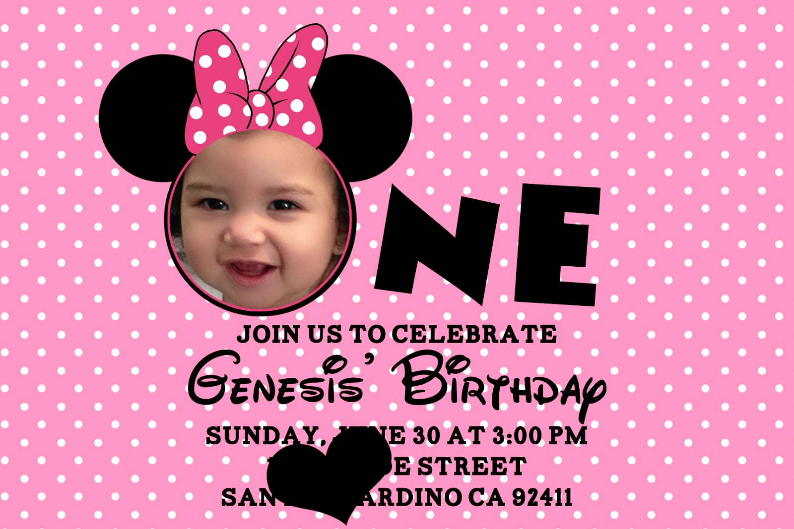 Minnie Mouse Invitation Template Free Unique Printable Minnie Mouse Birthday Invitations – Bagvania