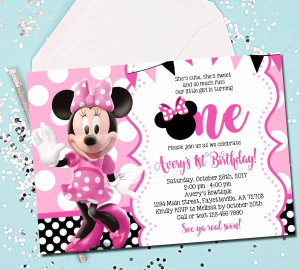 Minnie Mouse Invitation Template Luxury 15 Birthday Invitation Templates In Pdf