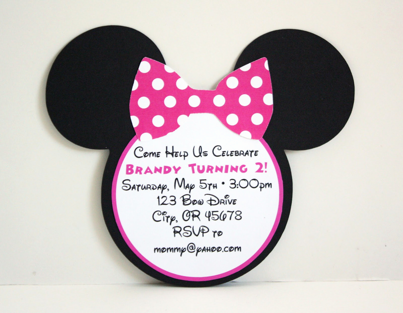 Minnie Mouse Invitation Template New 5m Creations Minnie Mouse Party Line Hot Pink & Black