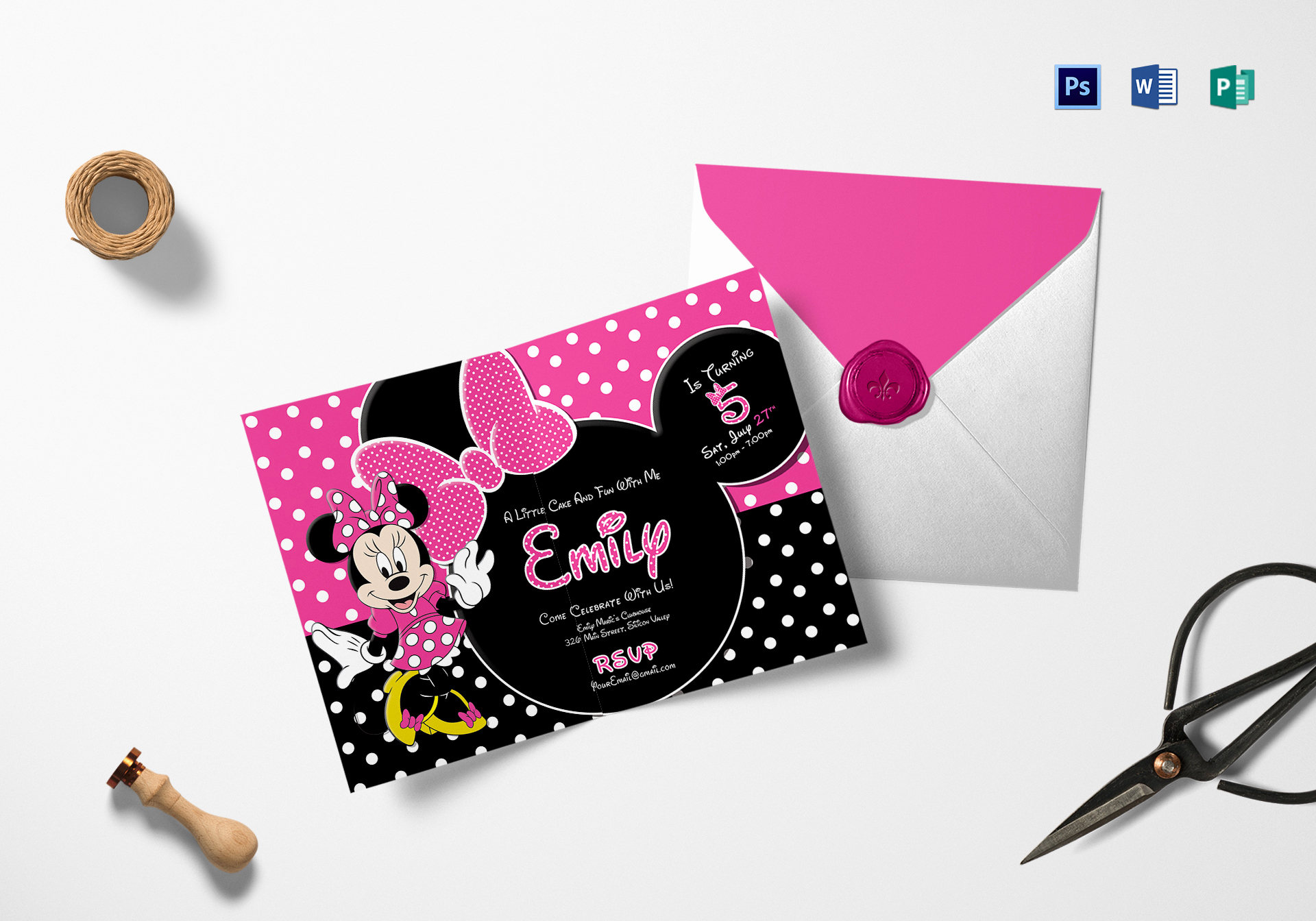 Minnie Mouse Invitation Template Online Awesome Special Minnie Mouse Birthday Invitation Design Template