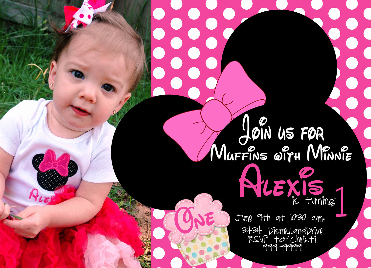 Minnie Mouse Invitation Template Online Best Of Free Minnie Mouse First Birthday Invitations Printable
