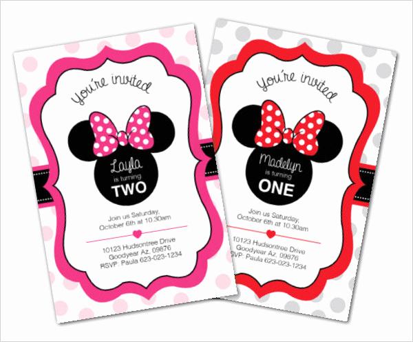 Minnie Mouse Invitation Template Online Inspirational 23 Awesome Minnie Mouse Invitation Templates Psd Ai
