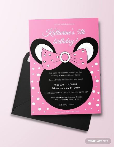 Minnie Mouse Invitation Template Online Luxury 63 Free Birthday Invitation Templates