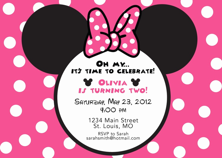 Minnie Mouse Invitation Wording Best Of 1000 Images About Minnie Mouse Birthday Party On