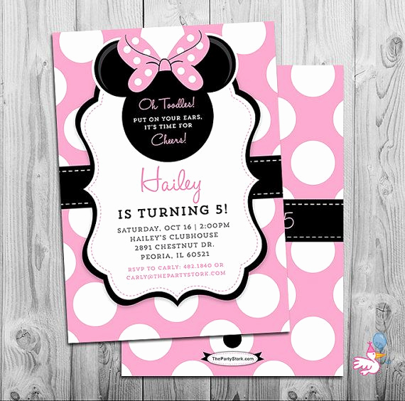 Minnie Mouse Invitation Wording Best Of Minnie Mouse Invites Minnie Mouse Party Third Birthday