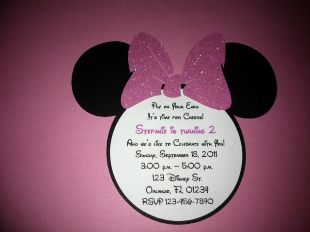 Minnie Mouse Invitation Wording Fresh Minnie Mouse Birthday Invitation Pretty Pink by Niudesigns
