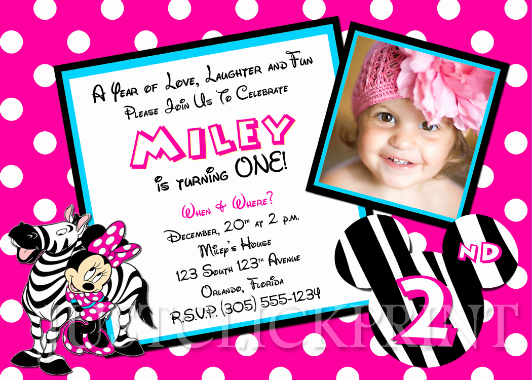 Minnie Mouse Invitation Wording Inspirational Free Minnie Mouse Birthday Invitations Printable Template