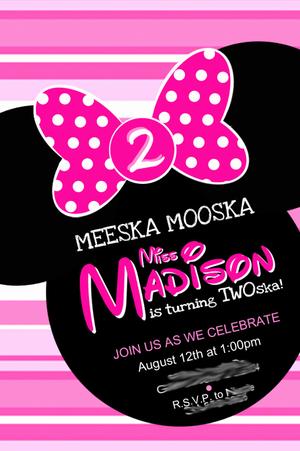 Minnie Mouse Invitation Wording New 26 Minnie Mouse Invitation Templates Psd Ai Word